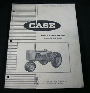 Case 630 Series Gasoline Diesel Tractor Parts Manual Book Catalog List