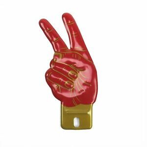 Retro Peace Sign Aluminum License Plate Topper For Hot Rod Street Rod Truck
