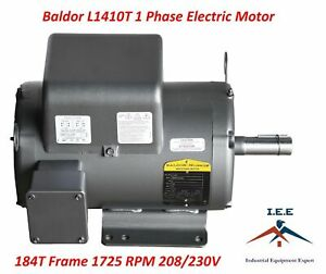 Baldor L1410t 5 Hp 1 Phase 1725 Rpm New Air Compressor Electric Motor