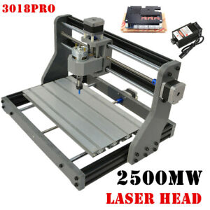 2in 1 Cnc3018 Diy Router Kit 2500mw Laser Engraving Machine 3 Axis W Er11 Collet