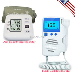 Fetal Doppler Baby Heart Monitor Detector 3 0 Mhz Arm Blood Pressure Monitor