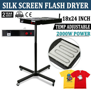 18 x24 Flash Dryer Silk Screen Printing Heavy Duty Prints 360 Swivel T shirt