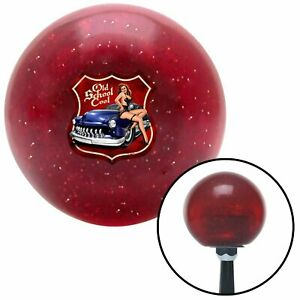 Old School Cool Red Metal Flake Shift Knob With M16x1 5 Insert 426 Wholesale
