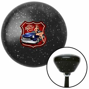 Old School Cool Black Retro Metal Flake Shift Knob With M16 X 1 5 Insert 1932