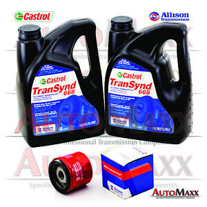 Allison Transynd Tes 668 Full Synthetic Transmission Fluid Pkg 2 Gal 1 Filter Fits Gmc