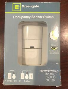 New Greengate Occupancy Sensor Switch Osw p 0801 120 Single Pole Or 3 way