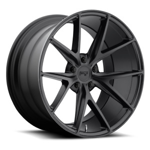 Four 4 20x10 5 Niche Misano Et 20 Black 5x115 Wheels Rims