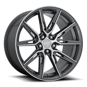 Four 4 20x9 Niche Gemello Et 18 Anthracite 5x115 Wheels Rims