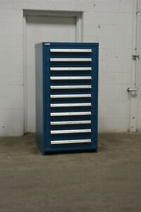 Used Vidmar 11 Drawer Cabinet Industrial Tool Shop Storage 1726 Snap on