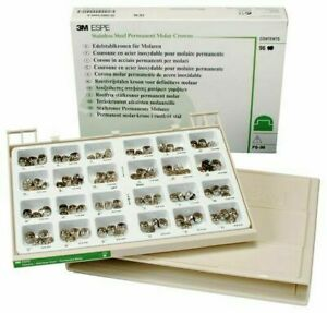 New 3m Stainless Steel Permanent Molar Crowns Kit Po 96