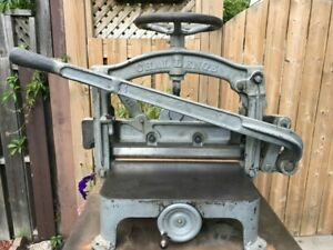 Antique Challenge Guillotine Hand Operated Paper Guillotine Cutter