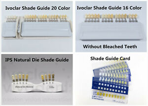 Dental Teeth Shade Guide Ivoclar Vivadent A d Color Porcelain Material Bleach