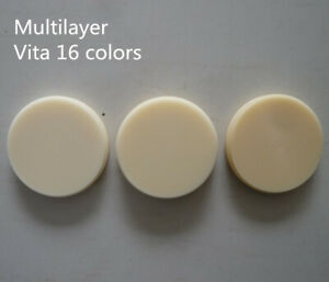 5pcs Vita 16 Colors Multilayer 98mm Open Dental Cad Cam Blocks