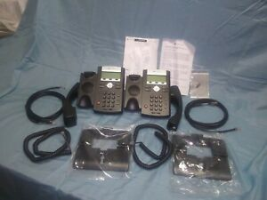 2 Polycom Ip 335 Voip Sip Phone Poe Power Supply Not Included 2200 12375 025