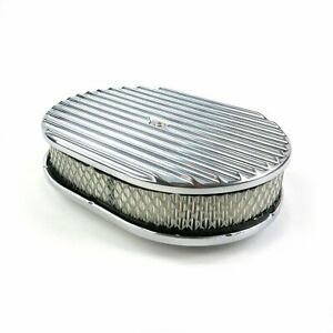 Vintage 12 Oval Full Finned Air Cleaner With Element Vpaca121 Muscle Truck