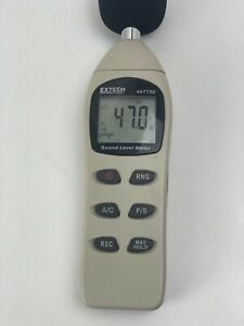 Extech Digital Sound Level Meter 40 130 Db 407730 featuring Large Lcd 0071