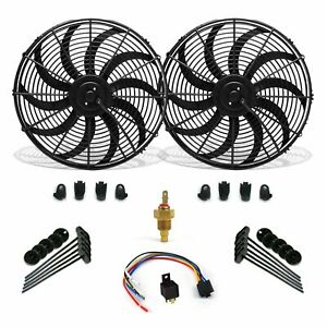 Super Cool Pack 16 S Blade Fans Fixed Temp Switch Harness Bracket Additive