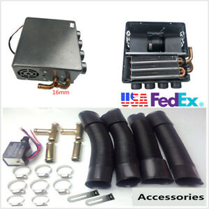 Universal 12v Car Under Dash Compact Heater 12pcs Pure Copper Tube speed Switch