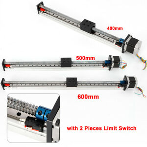 600mm Stroke Motorized Cnc Linear Slide Motion Rail Guide Stage Actuator Nema23