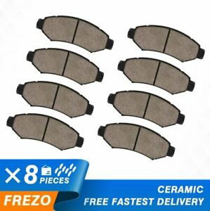 Front Rear Ceramic Brake Pads For 2005 2006 2007 2008 Ford F 150 4x4 6 Lug
