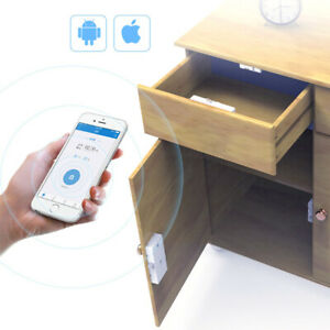 Smart Bluetooth Drawer Lock Phone App Security Keyless Cabinet Invisible Locker