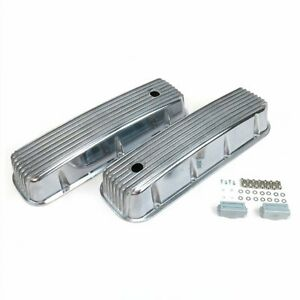 Vintage Finned Valve Covers W Breather Holesbig Block Chevy Vpavcbyaa Hot Rod