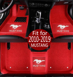 Fit For 2010 2020 Ford Mustang Luxury Custom Waterproof Car Floor Mats Trunk Mat