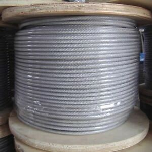 Pvc Coated 3 32 Cable 5000 Ft Spool uses Key Lock Cable