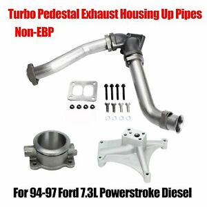 For 94 97 Ford 7 3 Powerstroke Non ebp Turbo Pedestal Exhaust Housing Up Pipes