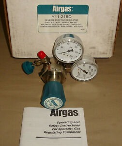 Airgas Y11 215d Regulator Single Stage Y11215d General Purpose New
