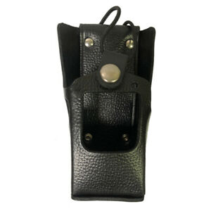 Motorola Ht1250 And Mtx8250 Leather Belt Loop Holster For Partial Keypad Radios