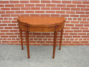Henkel Harris Cherry Game Table Hall Console 1974 Finish 29