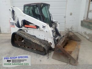 2009 Bobcat T300 Skid Steer Erops Heat ac Aux Hydraulics 81 Hp Pre emissions