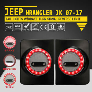 2pcs Led Tail Lights W Brake Turn Signal Reverse For Jeep Wrangler Jk 07 17