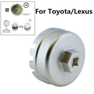 For Toyota Lexus Alloy Steel Oil Filter Wrench Cap Housing Tool Remover 3 8 Inch
