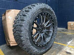 20x9 Fuel D680 Rebel Gray 33 Mt Wheels Rims Tires Package 6x135 Ford F150 Raptor