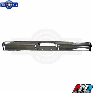 78 79 Ford Pickup Bronco Front Bumper W Impact Strip Holes Oe Quality Chrome