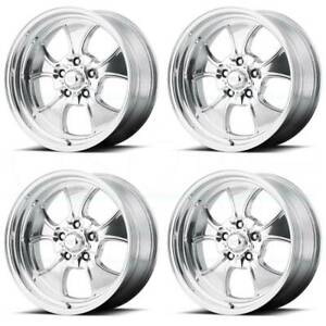 4 new 17 Vn450 Hopster Wheels 17x7 17x8 5x114 3 5x4 5 0 0 Polished Staggered Ri