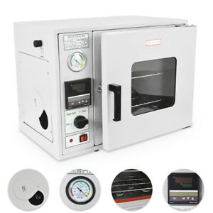 0 9 Cu Ft 480 f Lab Vacuum Air Convection Drying Oven 2 Trays Lcd Display 25l