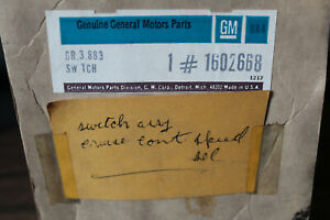 Nos Gm 1974 Cadillac Cruise Control On Off Switch And Harness