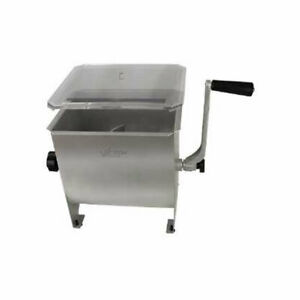 Weston 20lb Stainless Steel Manual Meat Mixer Model 36 1901 w