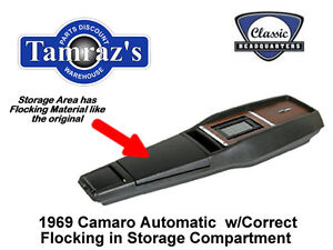 1969 Camaro Power Glide Trans Center Console Kit W Flocking Preassembled Style