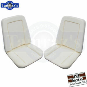 1971 1975 Chevy Pickup Truck Front Bucket Seat Buns Foam Cushion Pair Pui New