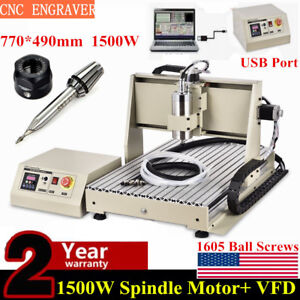 Usb 3 Axis 1 5kw Cnc 6040 Router Engraver Mill drilling Machine Metalworking Rc