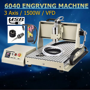 3 Axis 1500w Cnc Router Engraver 6040 Engraver Milling Machine remote Controller
