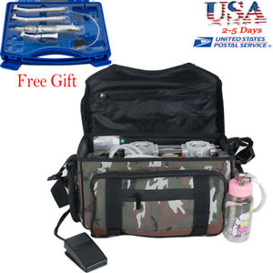 Dental Turbine Unit Messenger Bag Air Compressor Syringe Handpiece Kit 2018 New