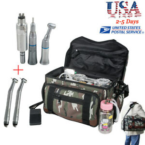 usa dental Turbine Unit Air Compressor Suction 3 Way Syringe free Handpiece Kit