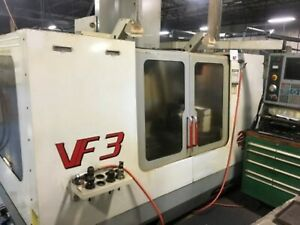 Used 2001 Haas Vf 3 Cnc Vertical Machining Center Mill Gear Box 4th Ready Ct 40