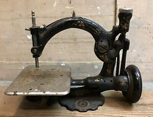 Wilcox And Gibbs Sewing Machine For Parts Repair Turns Hard Missing Parts