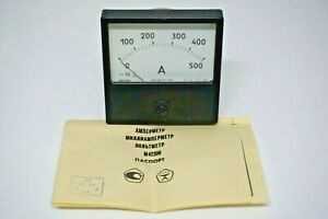 0 500a Dc 1 5 Russian M42300 Ammeter Current Meter Amp Analog Panel Meter